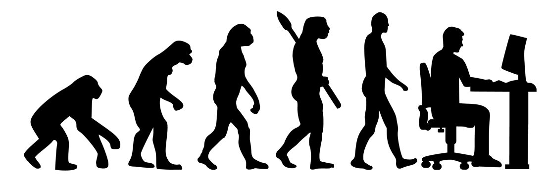 evolution of techno, from monkey to cell phone